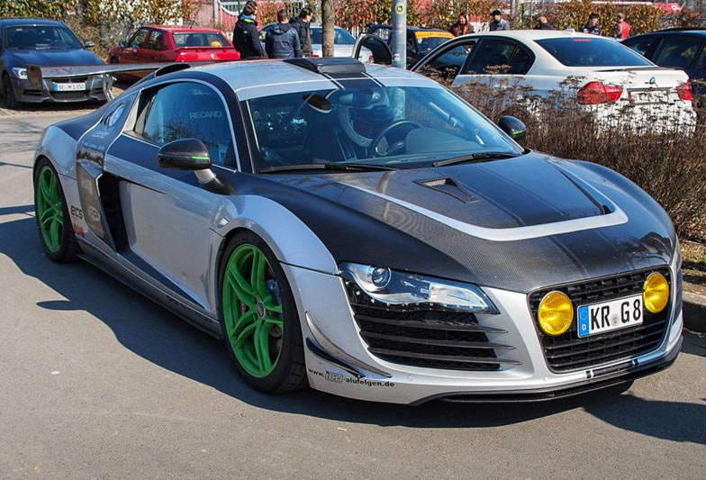 This Audi R8 looked ready to race.