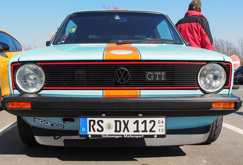 I loved the Gulf colour scheme on this Mark I Golf GTI.