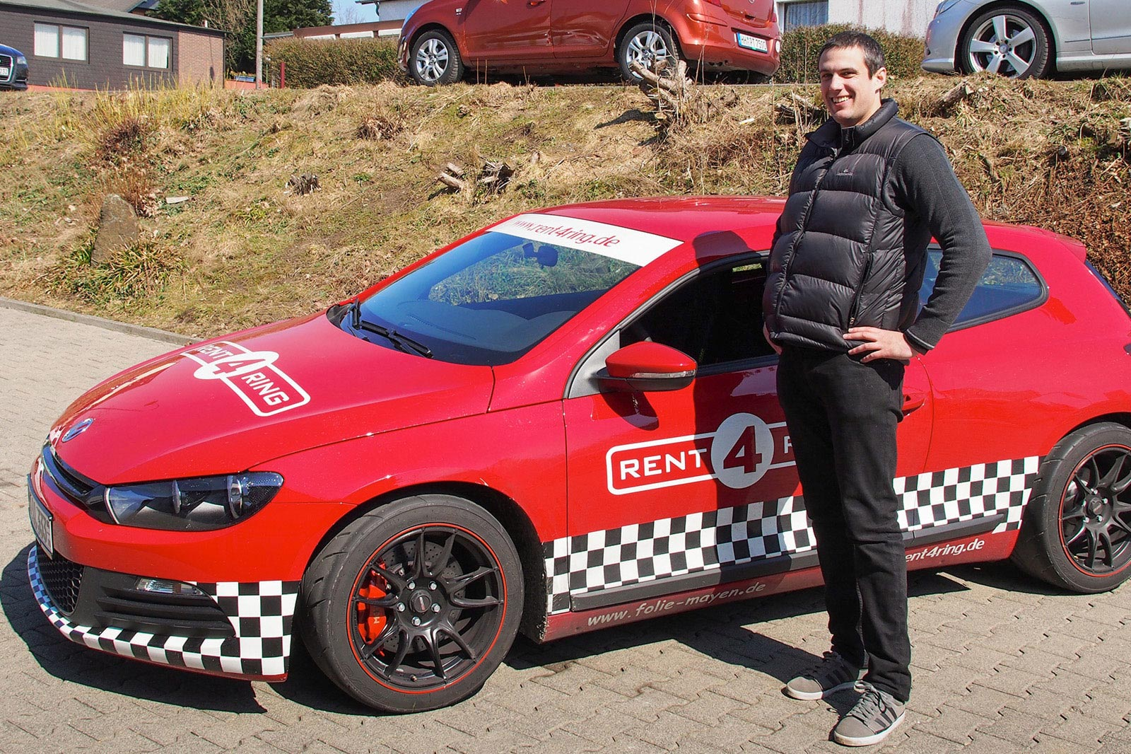 Feeling quite pleased after surviving six-laps of the Nordschleife. Photo by Meaghan O'Brien.