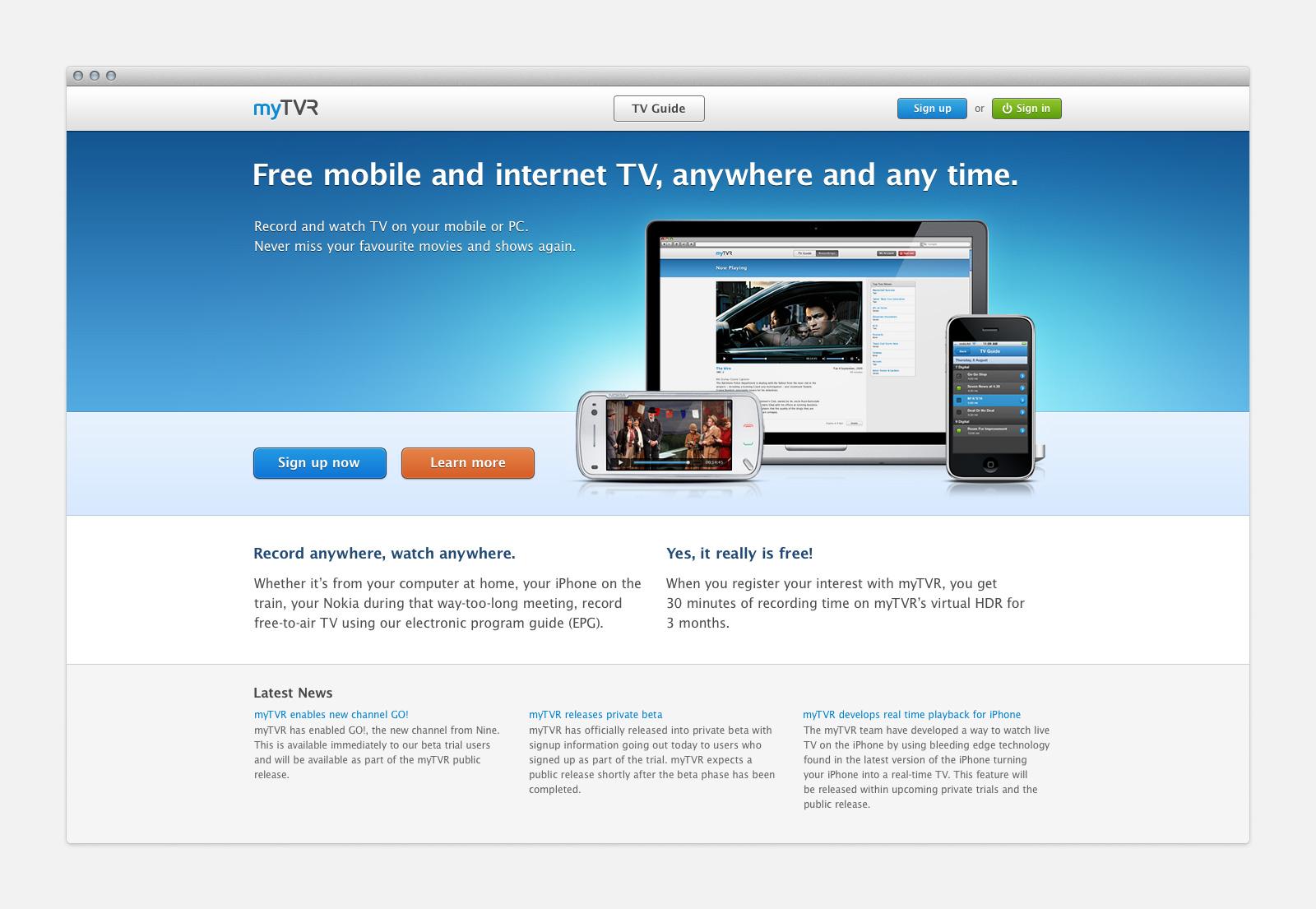 Desktop Home Page