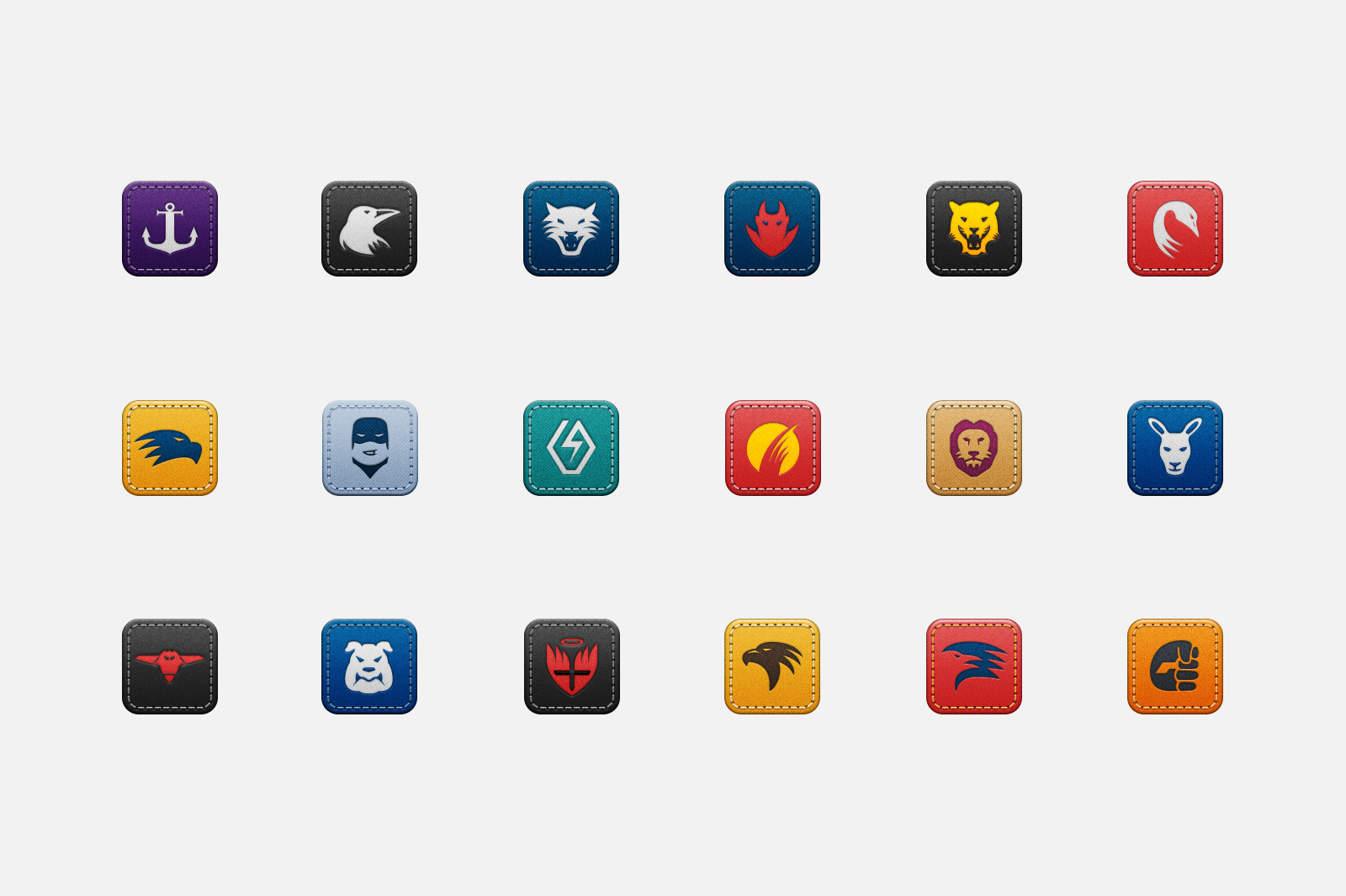 App icons for all 18 AFL teams