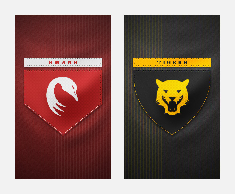 Swans and Tigers splash screens