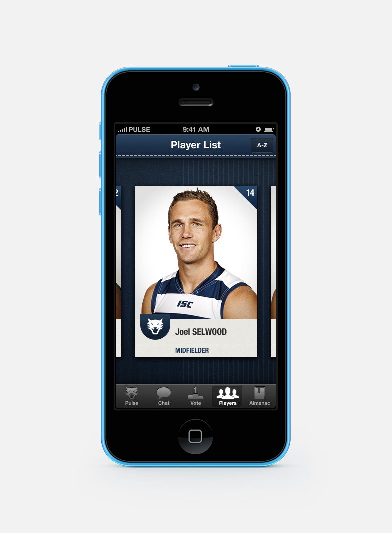 Player card for Joel Selwood