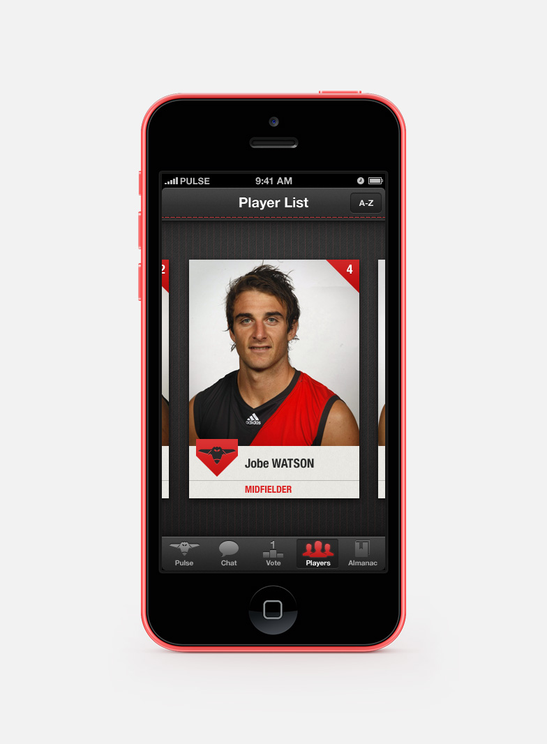 Player card for Jobe Watson