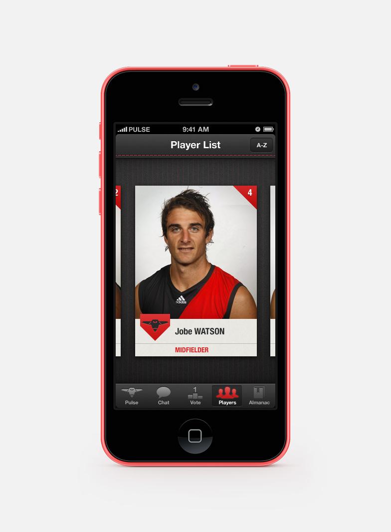 Player card for Jobe Watson